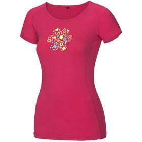 Ocun Bamboo Meadow Naiset Lyhythihainen paita , vaaleanpunainen